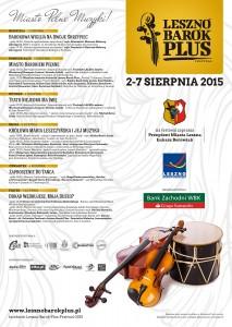 FESTIWAL LESZNO BAROK PLUS 2-7 SIERPNIA 2015